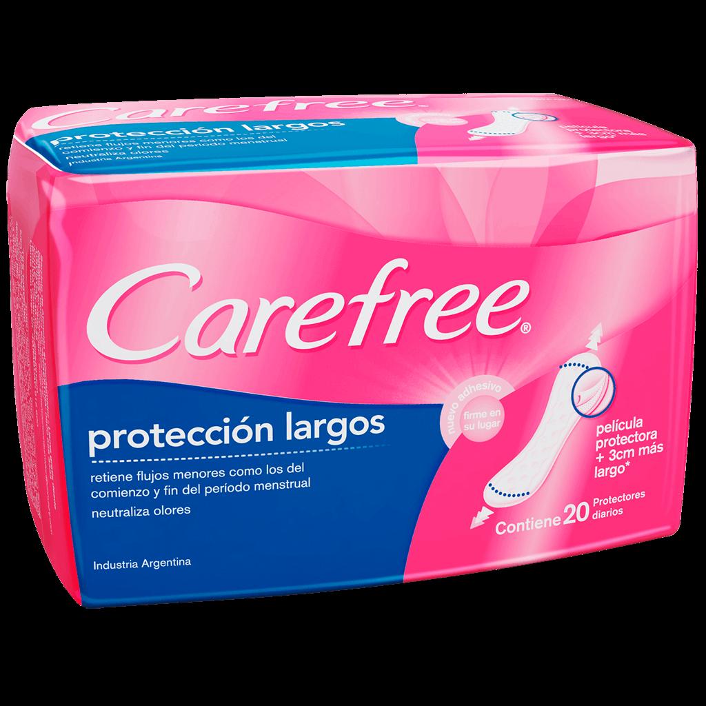 Protectores diarios Carefree Protección Largo